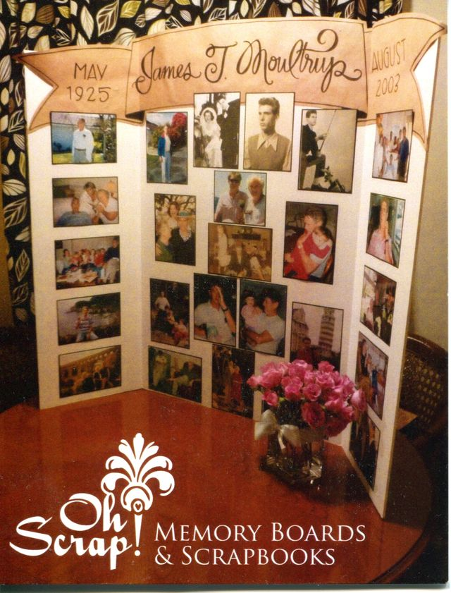 Memorial boards memory boards for Family display board ideas